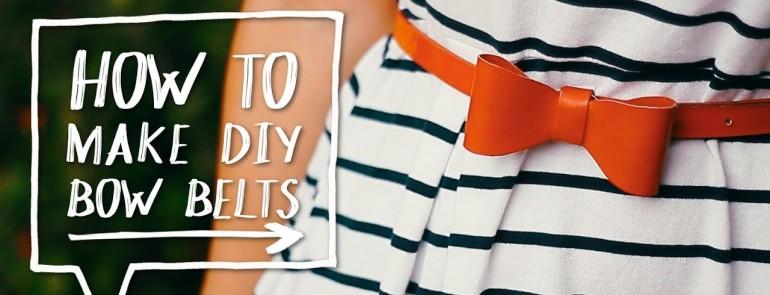 DIY Craft: Ribbon Belts