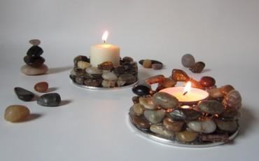 DIY Craft Centerpiece Ideas: Grid Mirror Glass Candleholders
